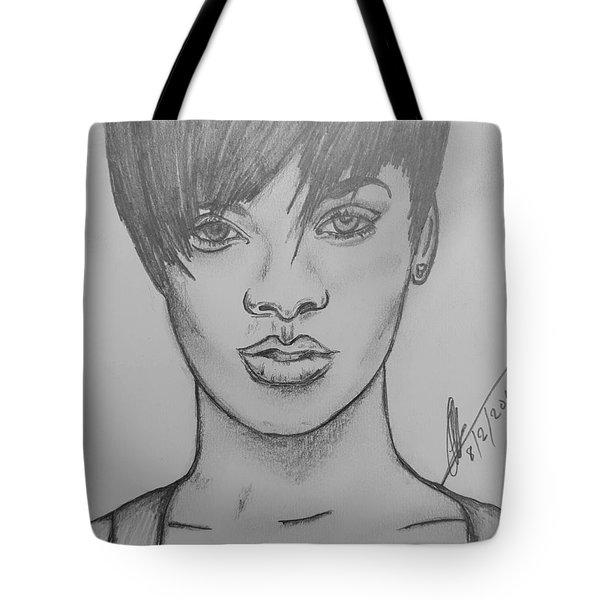 Rihanna 2 Tote Bag by Collin A Clarke