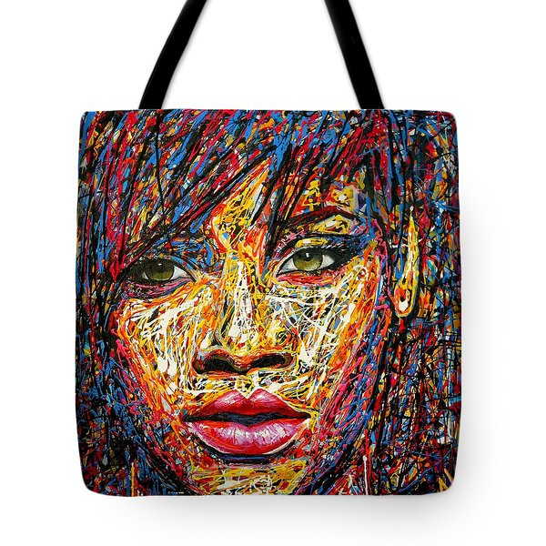 Rihanna Tote Bag by Angie Wright