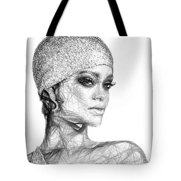 Rihanna Tote Bag by Rafael Salazar
