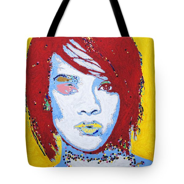 Rihanna  Tote Bag by Stormm Bradshaw
