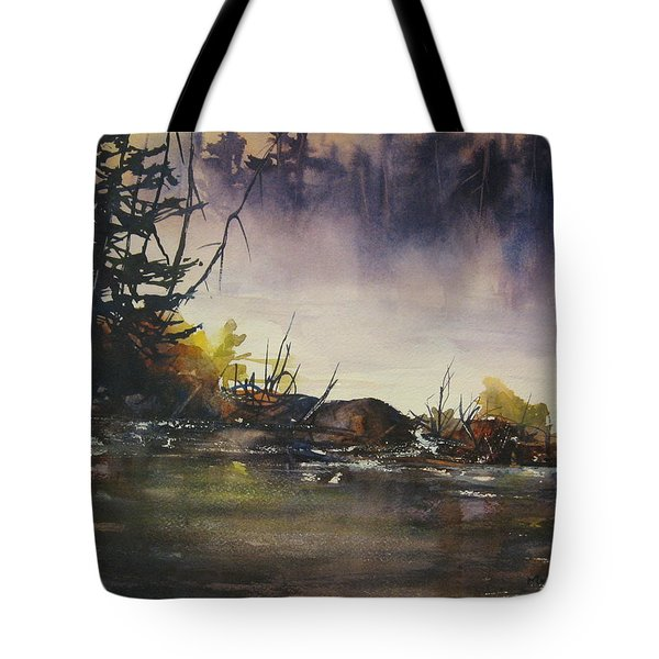 Rising Mist Tote Bag by Madelaine Alter