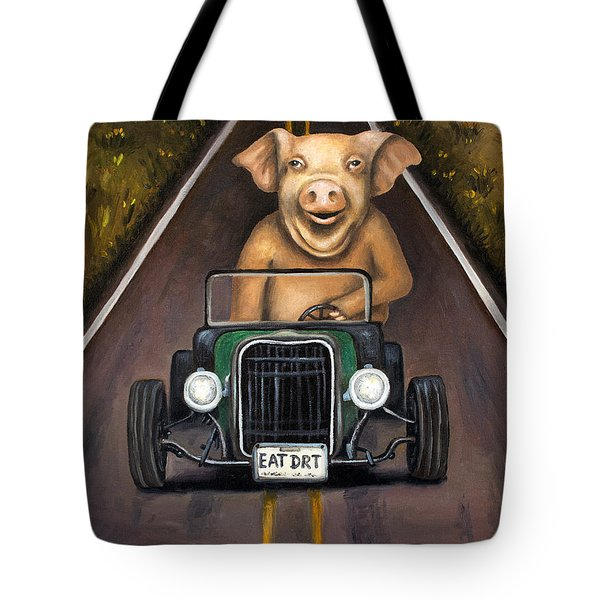 Road Hog Tote Bag by Leah Saulnier The Painting Maniac