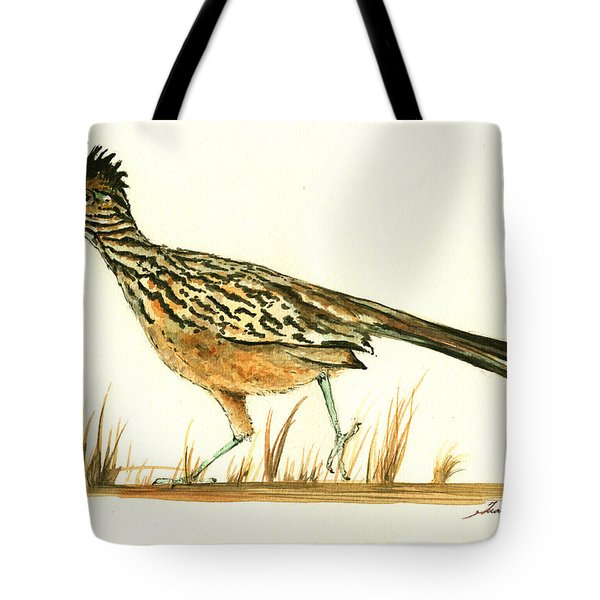 Roadrunner Bird Tote Bag by Juan Bosco