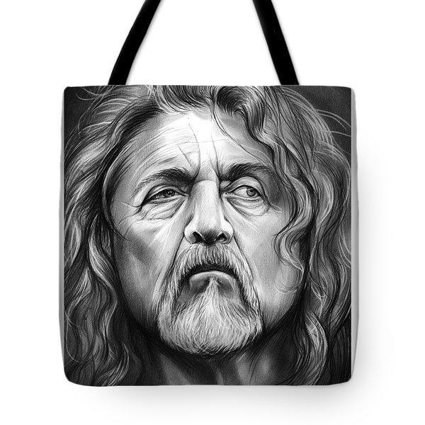 Robert Plant Tote Bag by Greg Joens