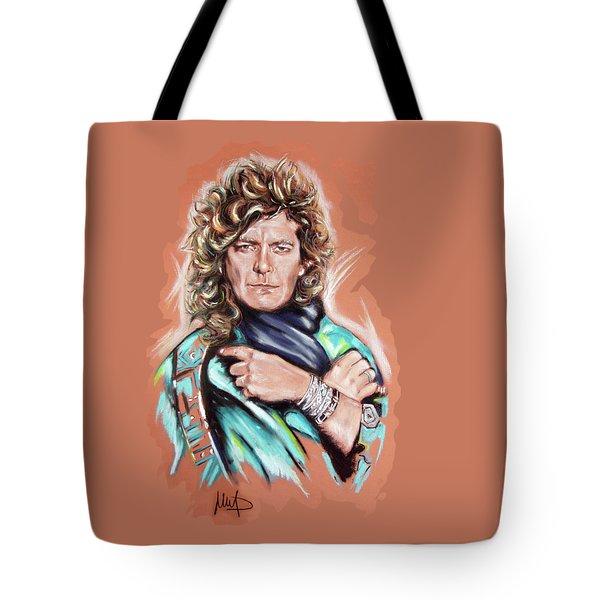 Robert Plant Tote Bag by Melanie D