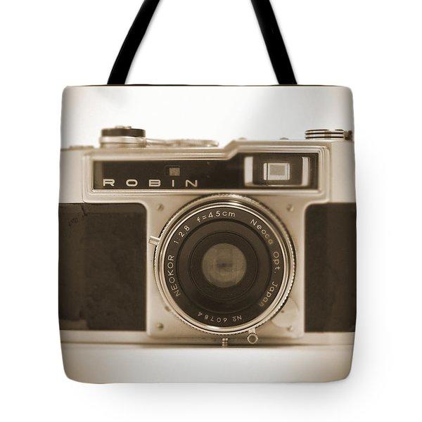 Robin 35mm Rangefinder Camera Tote Bag by Mike McGlothlen