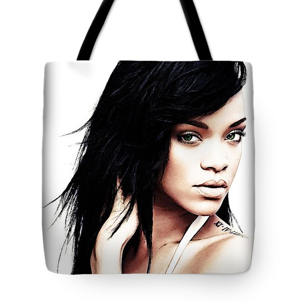 Robyn Rihanna Fenty Tote Bag by The DigArtisT