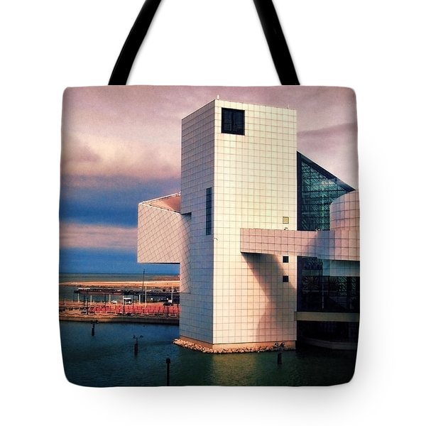 Rock And Roll Hall Of Fame Tote Bag by Shawna Rowe