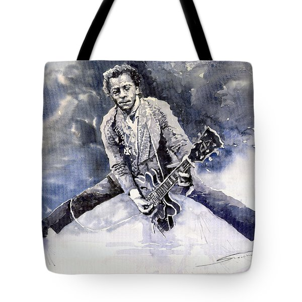 Rock And Roll Music Chuk Berry Tote Bag by Yuriy  Shevchuk