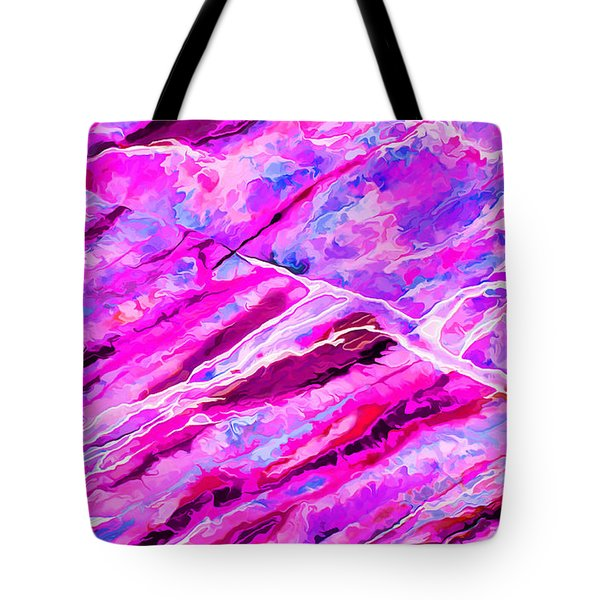 Rock Art 16 In Hot Pink Tote Bag by Bill Caldwell -        ABeautifulSky Photography