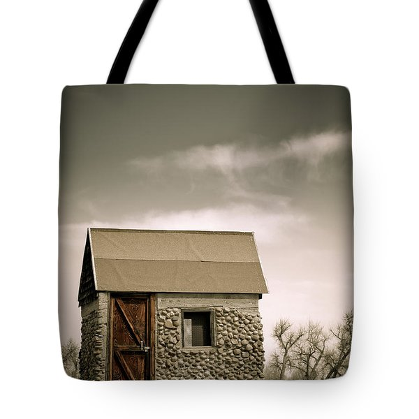 Rock Shed Tote Bag by Marilyn Hunt