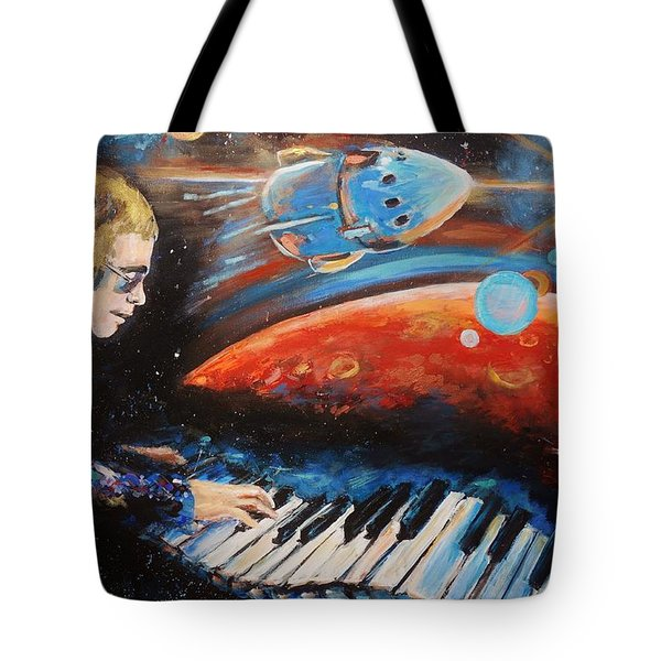 Rocket Man Tote Bag by Shannon Lee