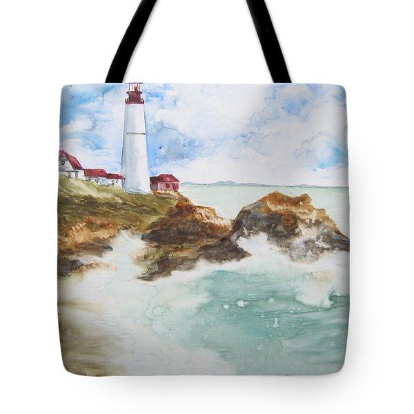Rocky Coast Tote Bag by Marsha Elliott