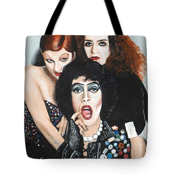 Rocky Horror Picture Show Tote Bag by Tom Carlton