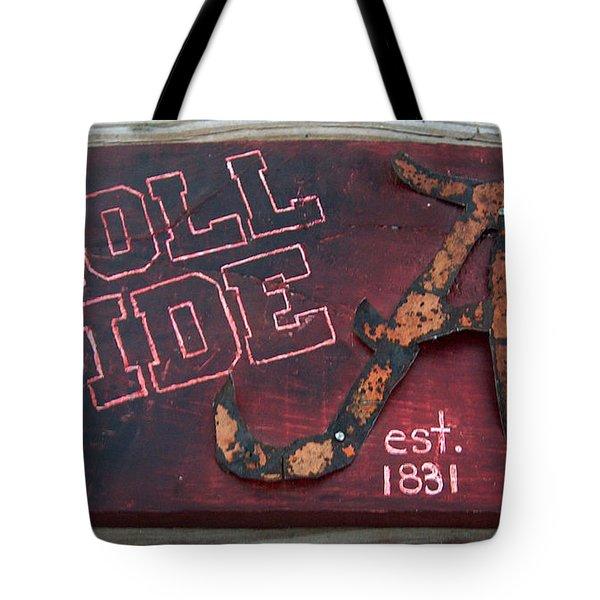 Roll Tide Alabama Tote Bag by Racquel Morgan