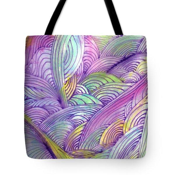 Rolling Patterns In Pastel Tote Bag by Wayne Potrafka
