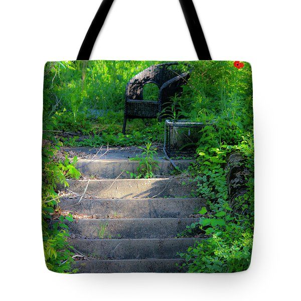 Romantic Garden Scene Tote Bag by Teresa Mucha