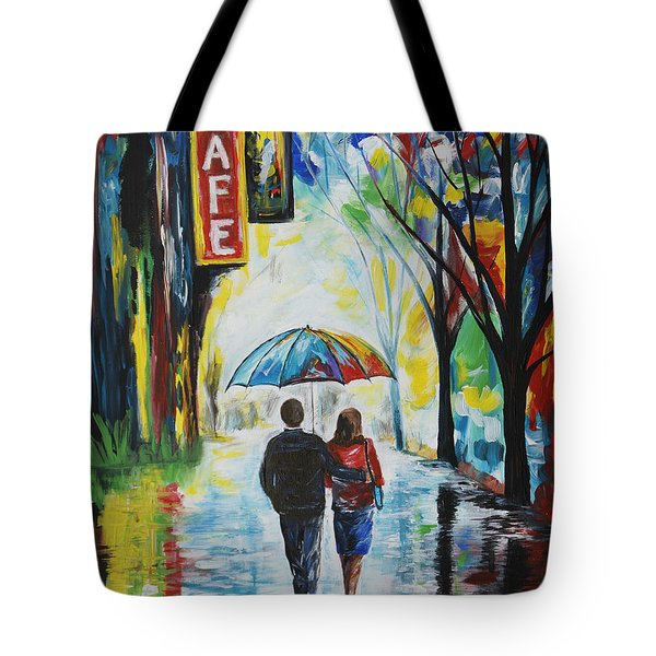 Romantic Night Out Tote Bag by Leslie Allen
