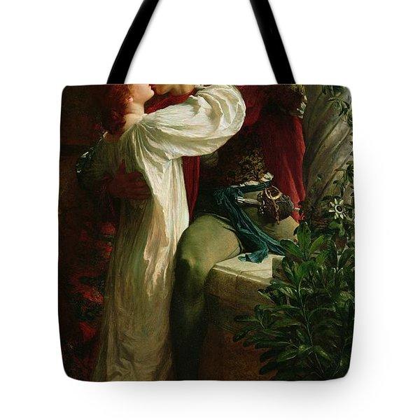 Romeo And Juliet Tote Bag by Sir Frank Dicksee