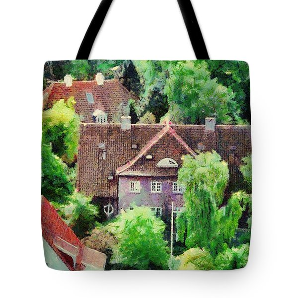 Rooftops Tote Bag by Jeff Kolker