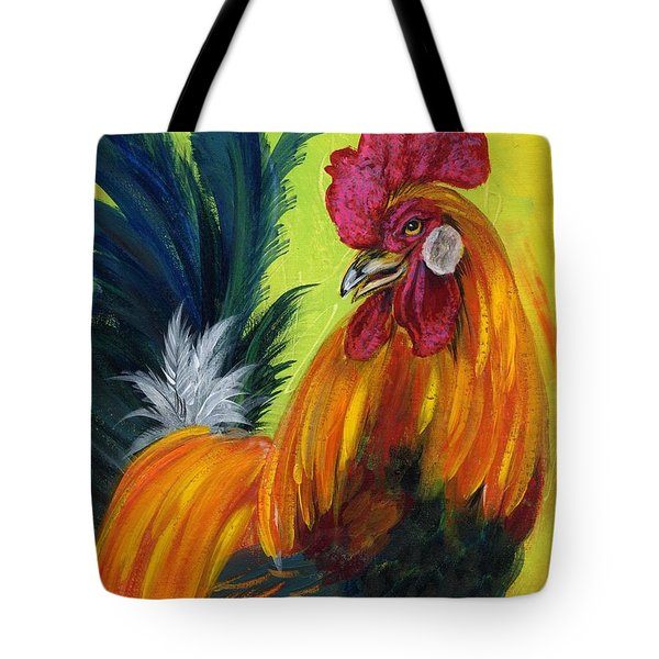 Rooster Kary Tote Bag by Summer Celeste