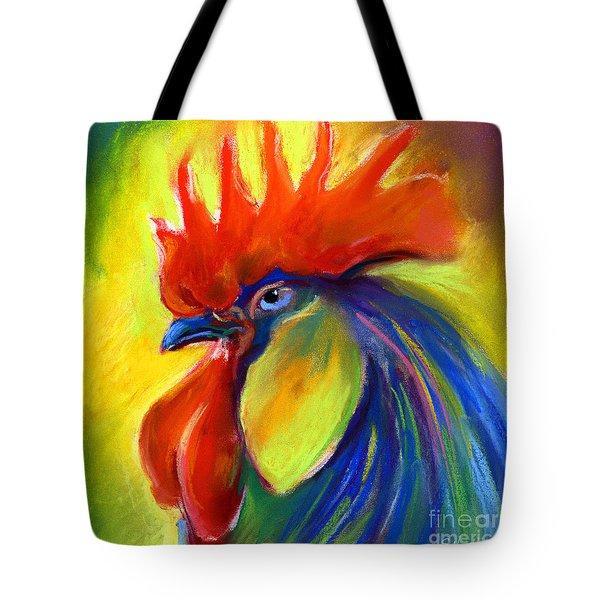 Rooster Painting Tote Bag by Svetlana Novikova