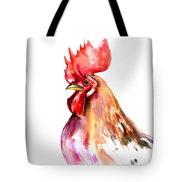 Rooster Portrait Tote Bag by Suren Nersisyan