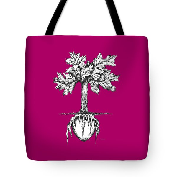 Roots Of The Heart Tote Bag by Karen Sirard