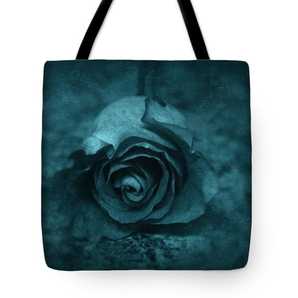 Rose - Green Tote Bag by Angie Tirado