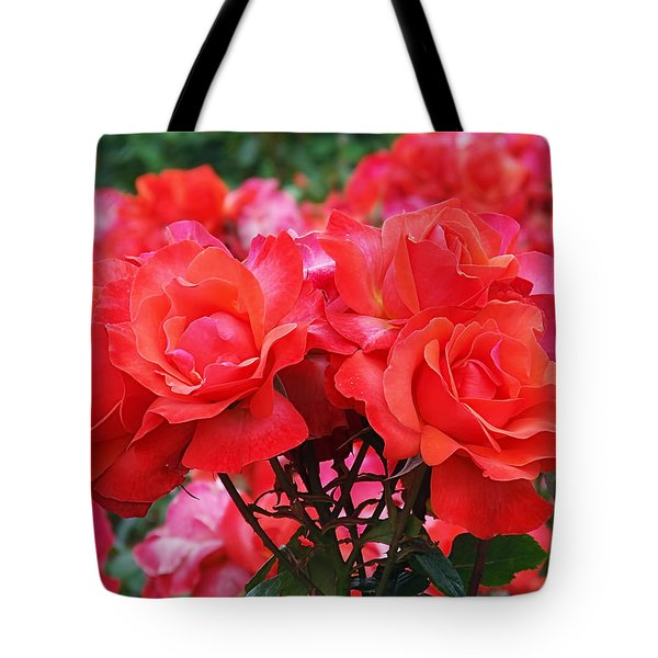 Rose Abundance Tote Bag by Rona Black