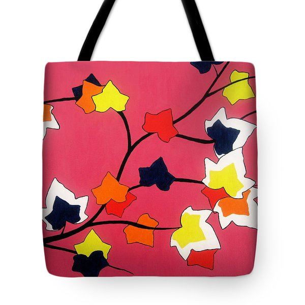 Rose Coloured Glow Tote Bag by Oliver Johnston