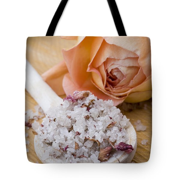 Rose-flavored sea salt Tote Bag by Frank Tschakert