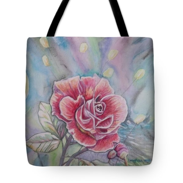Rose Tote Bag by Laura Laughren