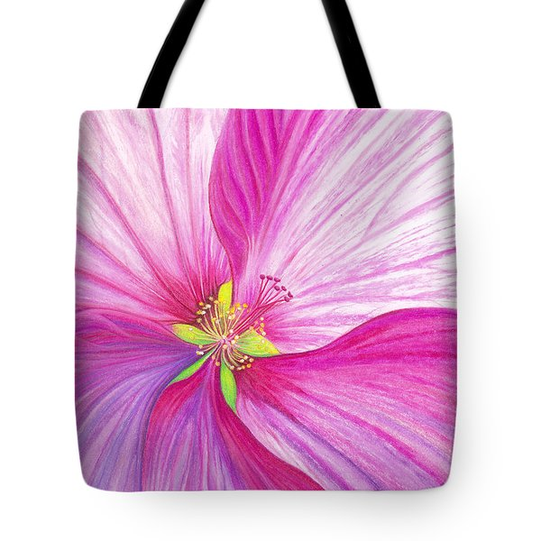 Rose Mallow Tote Bag by Amy Tyler