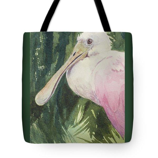 Roseate Spoonbill Tote Bag by Kris Parins