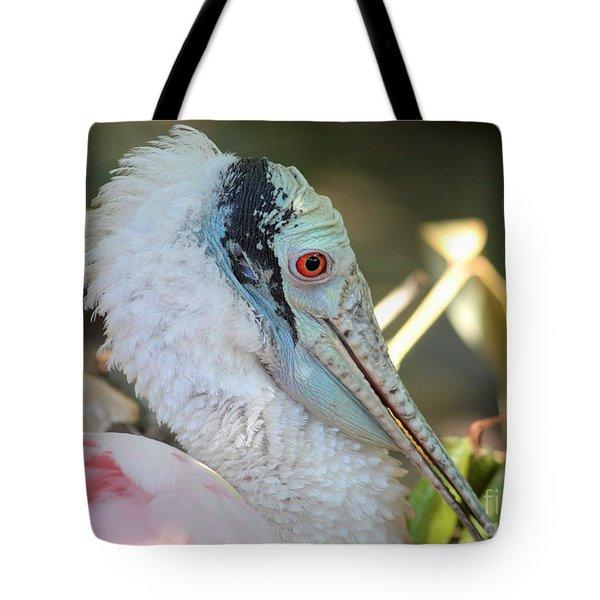 Roseate Spoonbill Profile Tote Bag by Carol Groenen