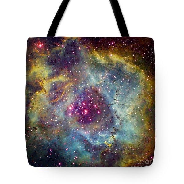 Rosette Nebula Ngc 2244 In Monoceros Tote Bag by Filipe Alves