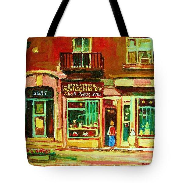 Rothchilds Jewellers On Park Avenue Tote Bag by Carole Spandau