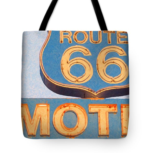 Route 66 Motel Seligman Arizona Tote Bag by Wingsdomain Art and Photography
