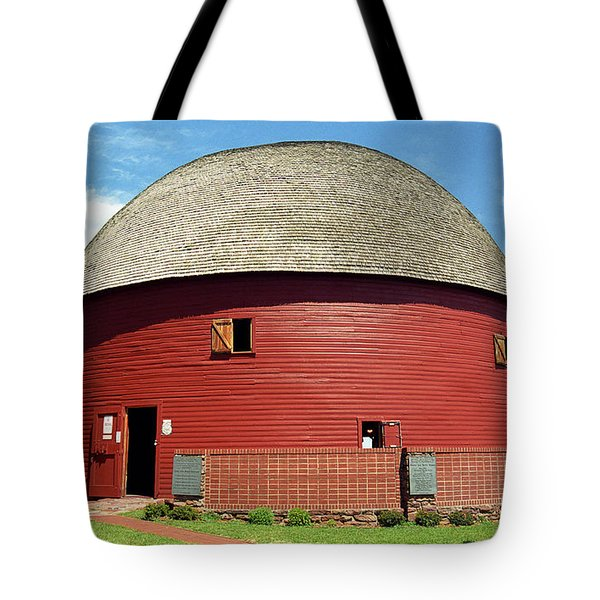 Route 66 - Round Barn Tote Bag by Frank Romeo