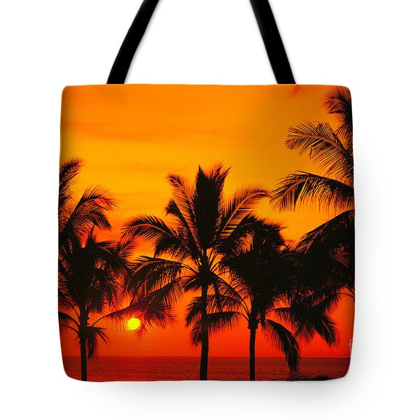 Row Of Palms Tote Bag by Bill Schildge - Printscapes
