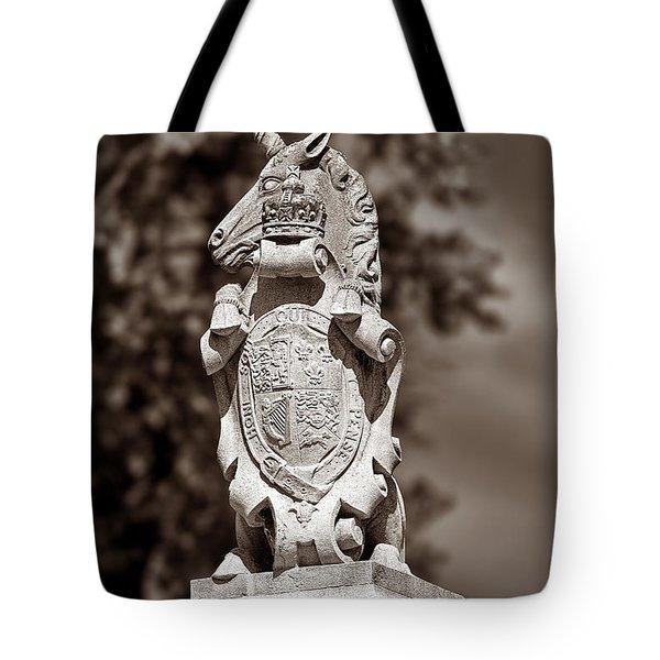 Royal Unicorn - Sepia Tote Bag by Christopher Holmes