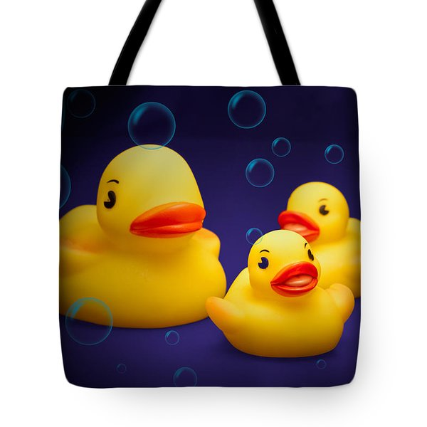 Rubber Duckies Tote Bag by Tom Mc Nemar