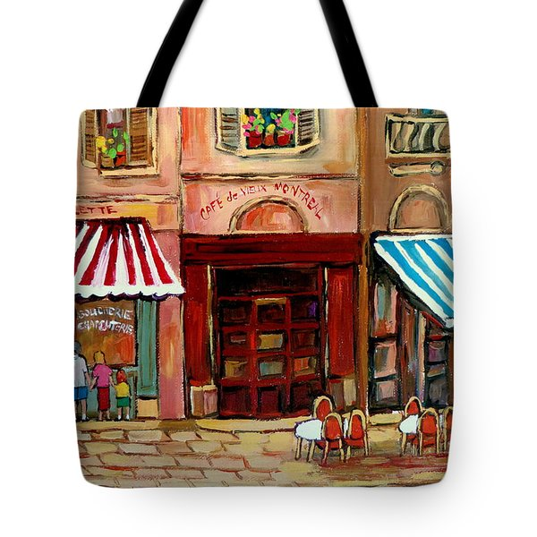 Rue St Paul Montreal Tote Bag by Carole Spandau