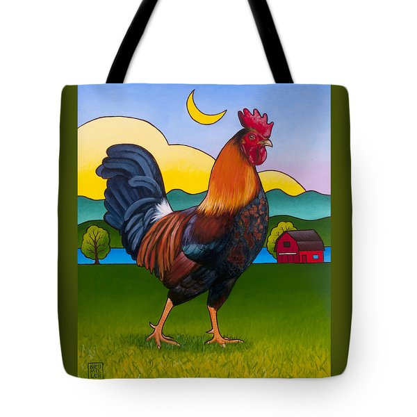 Rufus The Rooster Tote Bag by Stacey Neumiller