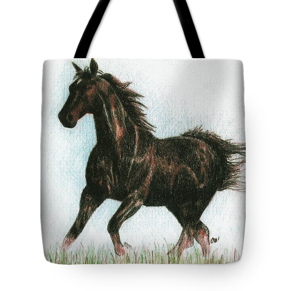 Running Free Tote Bag by Arline Wagner