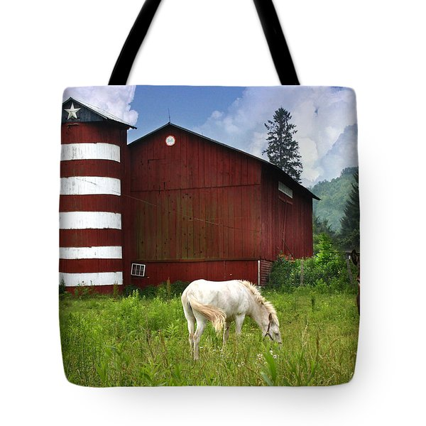 Rural America Tote Bag by Lori Deiter