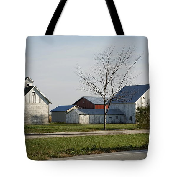 Rural Farm Central Il Tote Bag by Thomas Woolworth