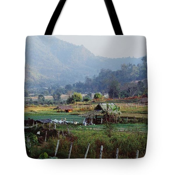 Rural Scene Near Chiang Mai, Thailand Tote Bag by Bilderbuch