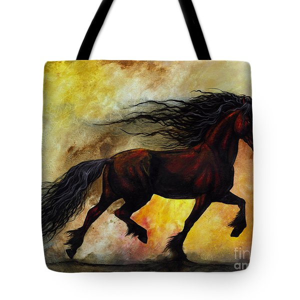 Rust Unicorn Tote Bag by Stanley Morrison